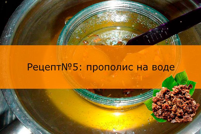 Рецепт настойки воды и прополиса
