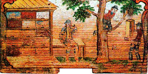 Сбора прополиса на гравюре